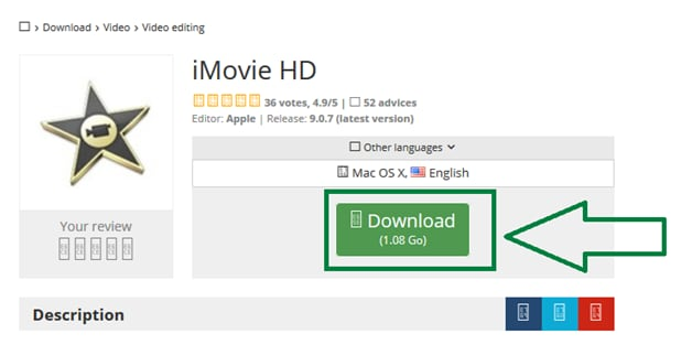 imovie hd downlaod