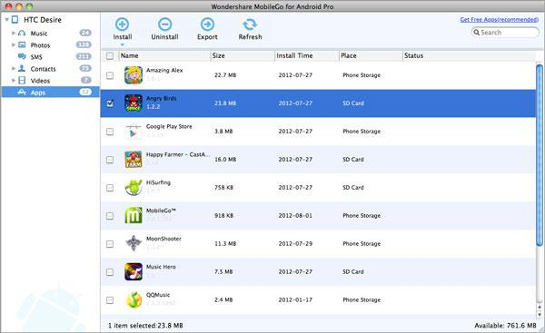 Mac Android MobileGo App