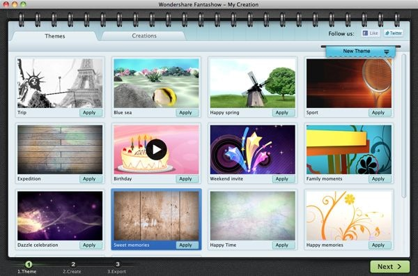Mac Fantashow select video template