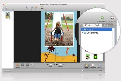 Official wondershare icollage for mac mac collage maker for Iphoto calendar templates