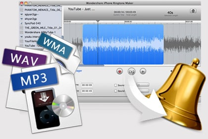 Create ringtone with any video, audio file