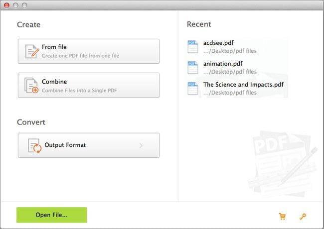 create PDF on Mac