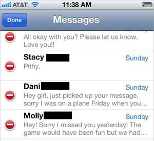 how to erase text messages on iphone