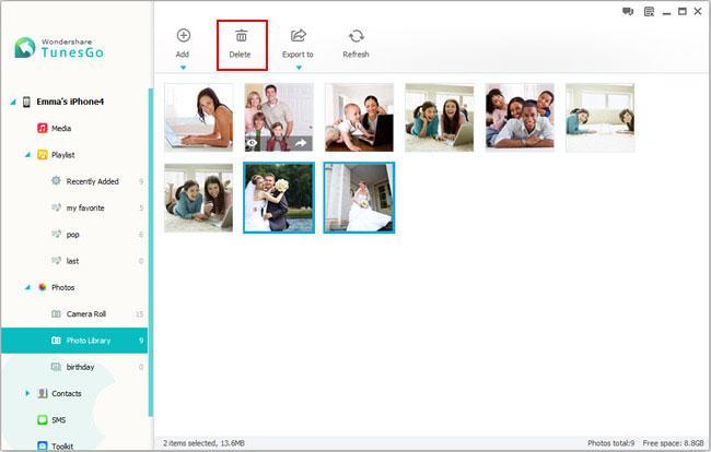manage photos iphone