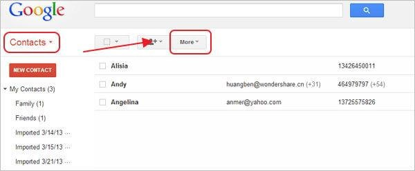 transfer contacts from outlook to gmail