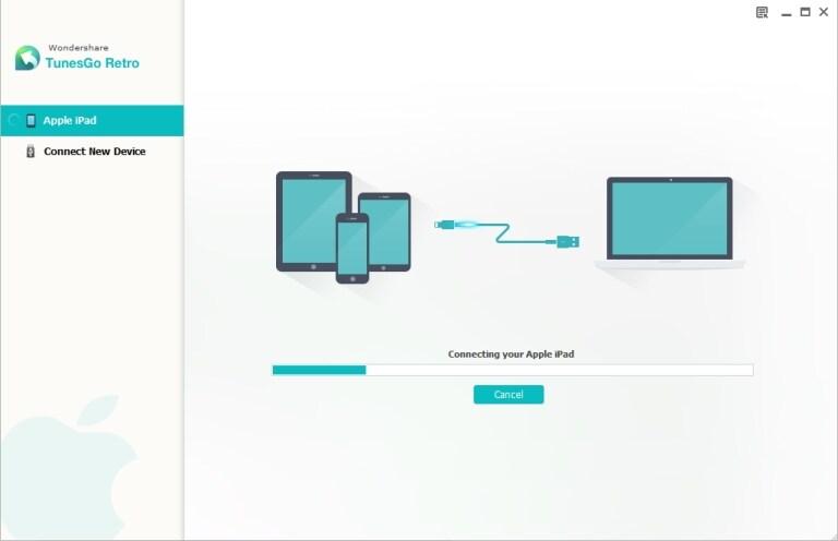TunesGo Retro - transfer photos from ipad to usb