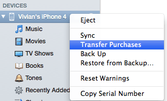 restore itunes from iphone