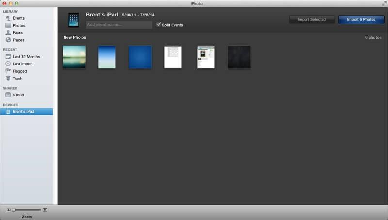 how to transfer photos from ipad to imac