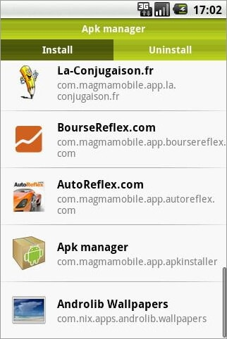 Gestionnaire d'applications android