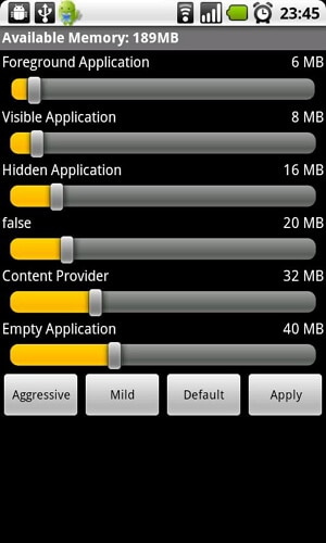 manage memory android