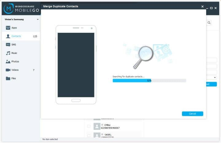 remove duplicate contacts android