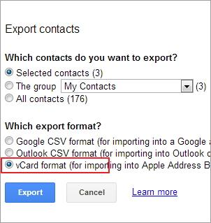 export contacts to excel android