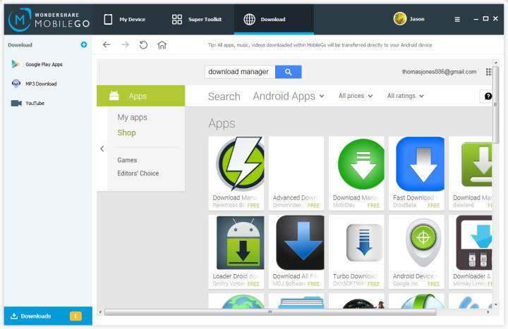 Bought android file manager for pc free download software side