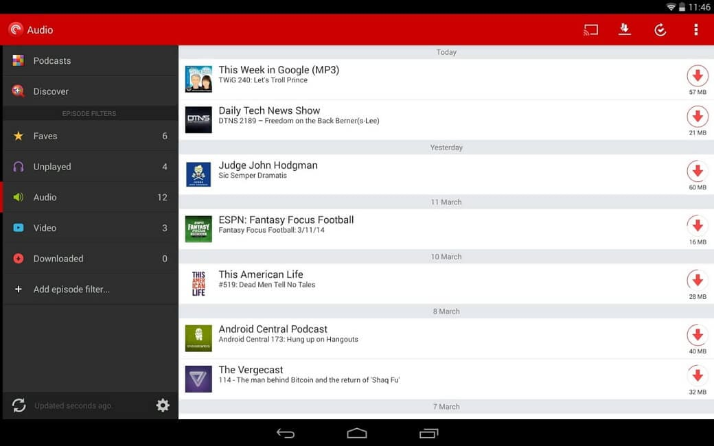 android podcast manager
