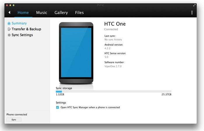 how to transfer music from itunes to htc one