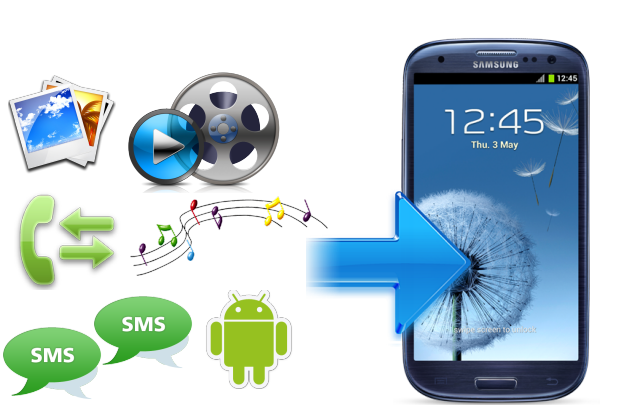 comment transférer des contacts d'android vers galaxy s3