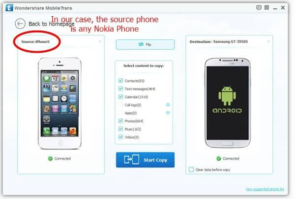 How to Transfer Data from Nokia to Samsung