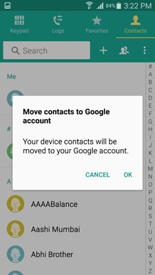 how to transfer samsung android contacts to computer with Gmail