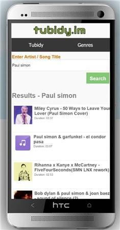 how to download music from tubidy on android