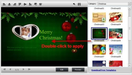 create christmas video