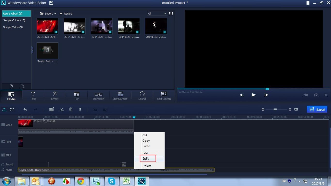 divisor de video y audio