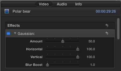 add effects in fcp