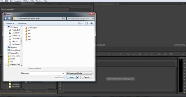 Import videos to Adobe Premiere