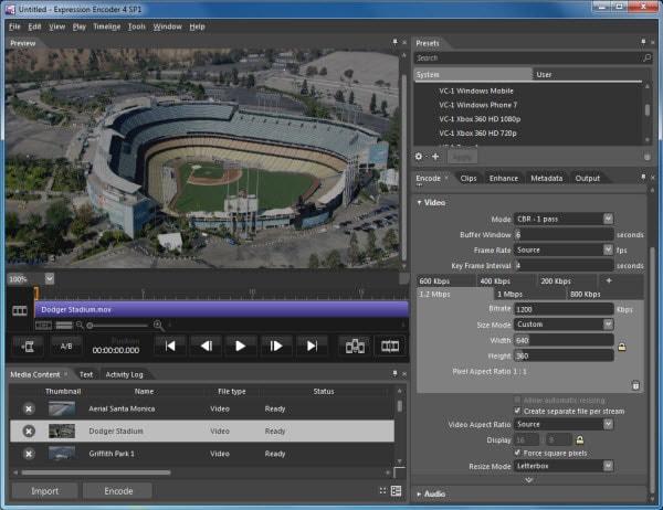 Video Kompressor Freeware - Microsoft Expression Encoder