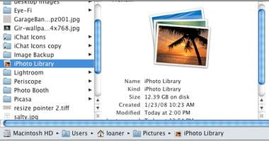 move iphoto library