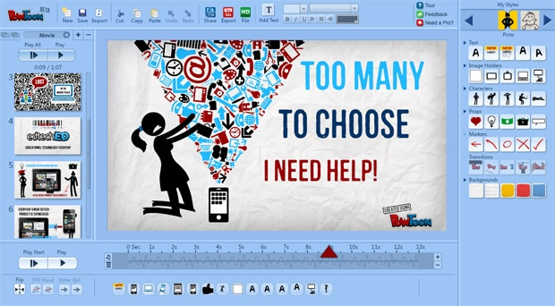 PowToon Video Editor