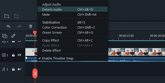Replace audio track of video