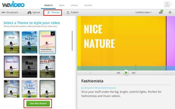 wevideo tip