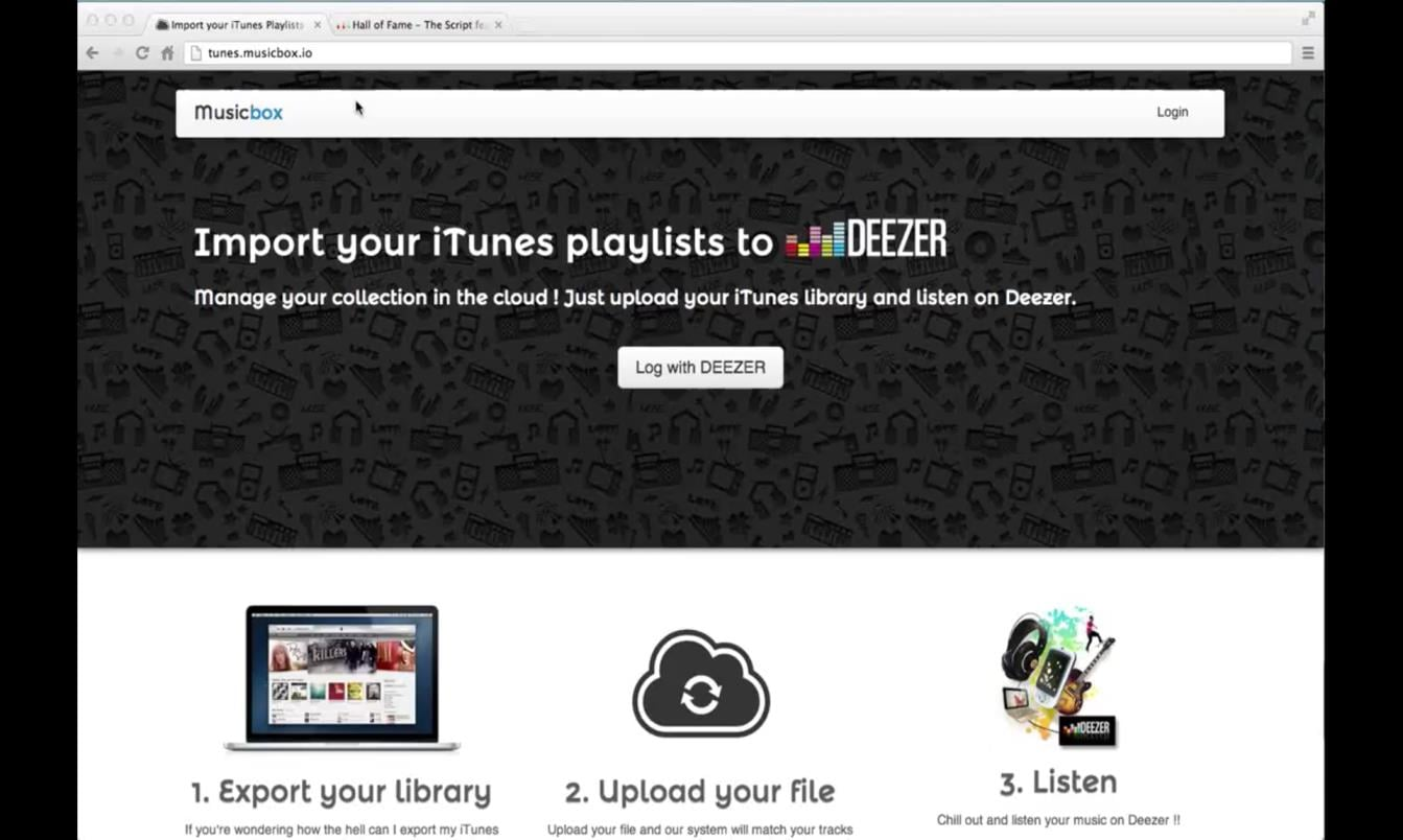 deezer music to itunes - Musicbox