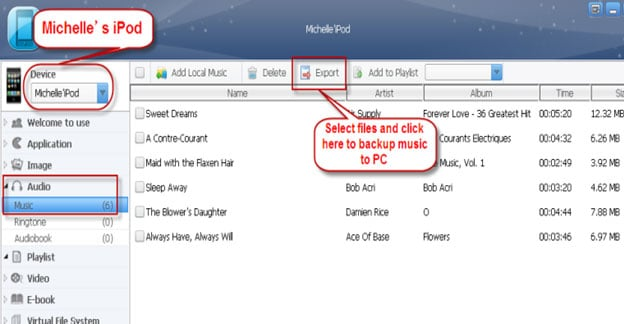 how to download music off ipod onto computer