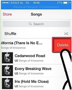 how to permanently delete songs from itunes