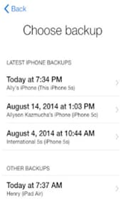 sync contacts from iphone to iPad with icloud -step 11