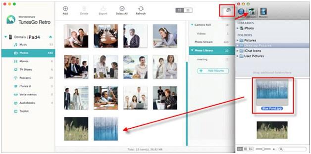 TunesGo Retro - transfer photos from iPhoto to iPhone