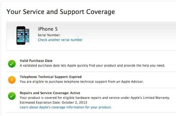 check iPhone warranty