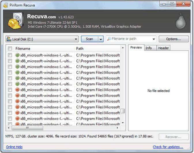 hard drive recovery freeware