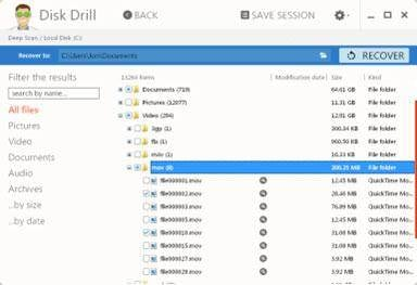 Free memory card recovery software: Disk Drill