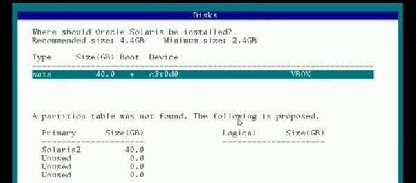 format disk solaris 9