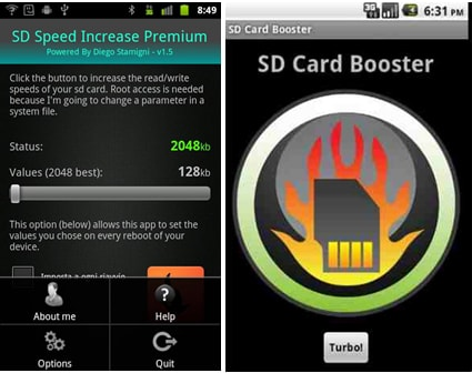 10 Mejores Amplificadores para Android:  SD Speed Increase