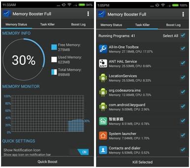 10 Mejores Amplificadores para Android: Memory Booster