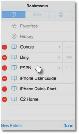 How to Delete Bookmarks on iPhone