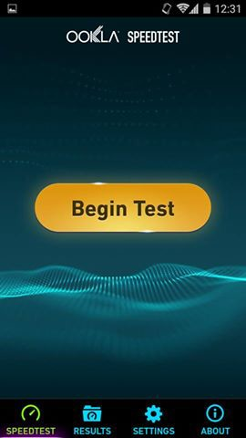 Begin Test Internet Speed on Android