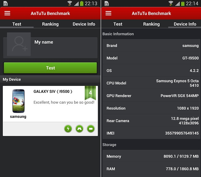 test your android's speed using AnTuTu Benchmark app