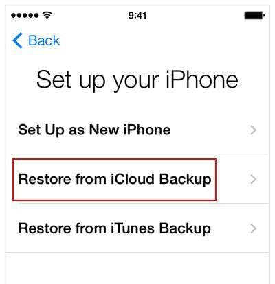 restore iphone from older backup