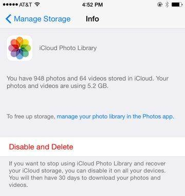 how to delete all picture from icloud storage