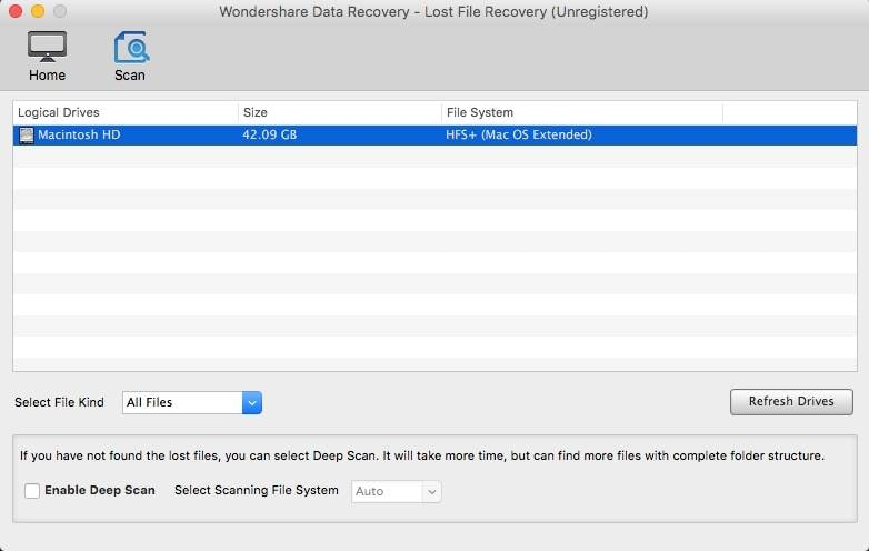 Recuva for Mac OS X El Capitan