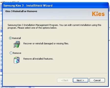 Pasos para Desinstalar Kies en Windows